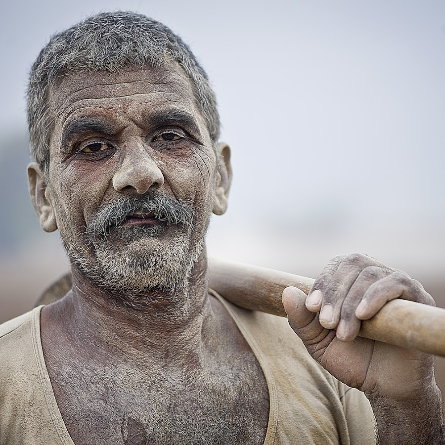 Karma by Devesh Kalla - People Portraits of Men ( face, workingclasshero, indian, worker, india, senior citizen, pwc faces, people, man, pwcfaces-dq )