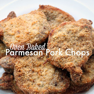 Easy Peasy Oven Baked Parmesan Pork Chops.