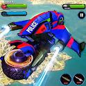 Flying Robot Bike Police Robot Transformation Wars icon