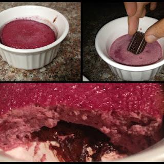 Low Carb Chocolate Raspberry Soufflé