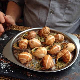 Escargot | Snails with Herb Butter.