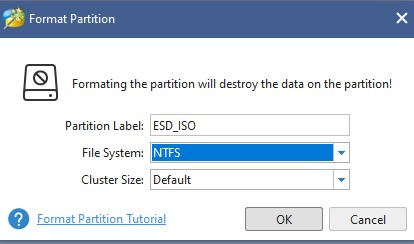 Use Partition Wizard to Format windows was unable to complete the format