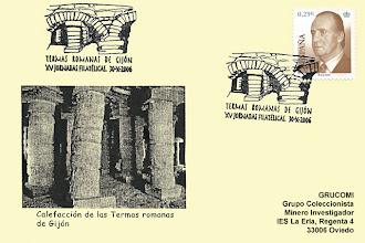 Photo: Matasellos de las XV Jornadas filatélicas de Gijón, Termas romanas, 2006
