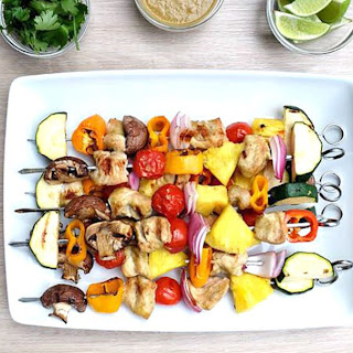Coconut Lime Turkey Kabobs.