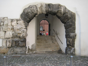 Photo: Some buildings incorporated parts of the old city walls.