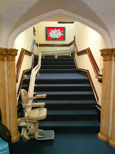 Photo: Here is a Bruno Curved Rail Elite in an Atlantic City church. Commercial & Residential #StairLift modelsavailable.