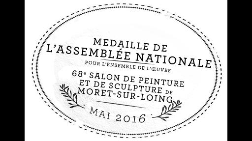 J PAPA AQUARELLES _ MEDAILLE ASSEMBLEE NATIONALE 2016