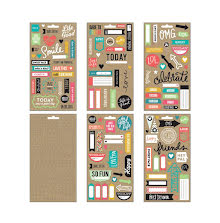 Me & My Big Ideas Pocket Pages Paper Stickers 5 Sheets/Pkg - Smile