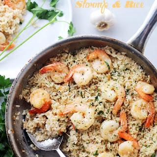 Garlic Butter Shrimp and Rice.