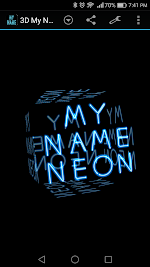 3D My Name Neon Live Wallpaper Apk Download Free for PC, smart TV