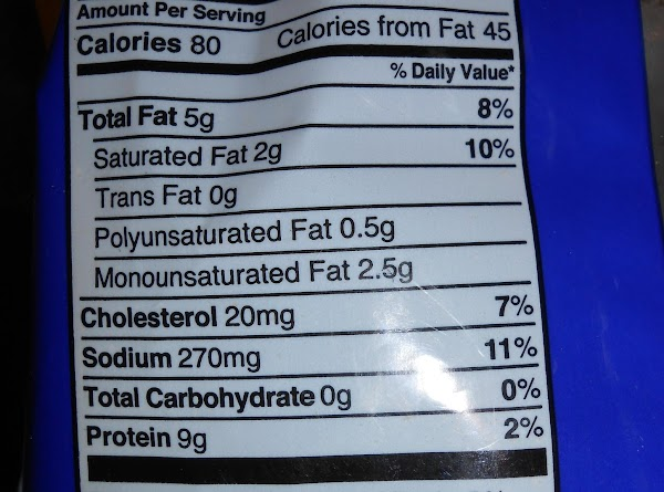 Nutritional facts for chicharrones
