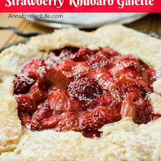 Strawberry Rhubarb Galette.