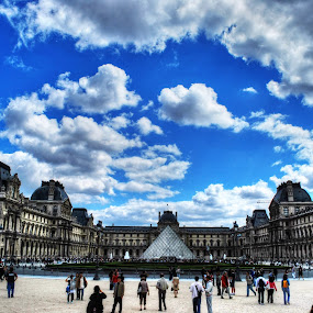 Louvre by Richard Huntjens - Buildings & Architecture Public & Historical ( building, louvre, wideangle, full, outside )