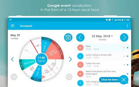Sectograph. Planner & Time manager on clock widget Pro v5.7.2 Cracked APK 9