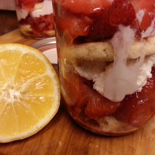 Desserts in a Jar--Strawberry Shortcake Trifle