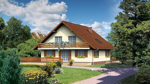 projekt domu Dom przy Leśnej