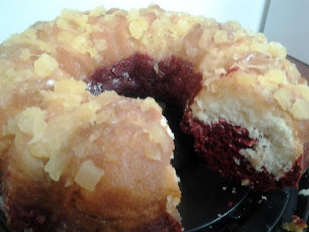 Pineapple Velvet Upside~Down Bundt Cake Recipe