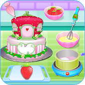 Tải Olivia cooking strawberry cake APK
