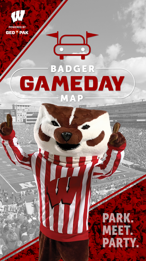 Badger Gameday Map- screenshot