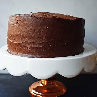 Yellow Birthday Cake with Milk Chocolate Frosting Recipe