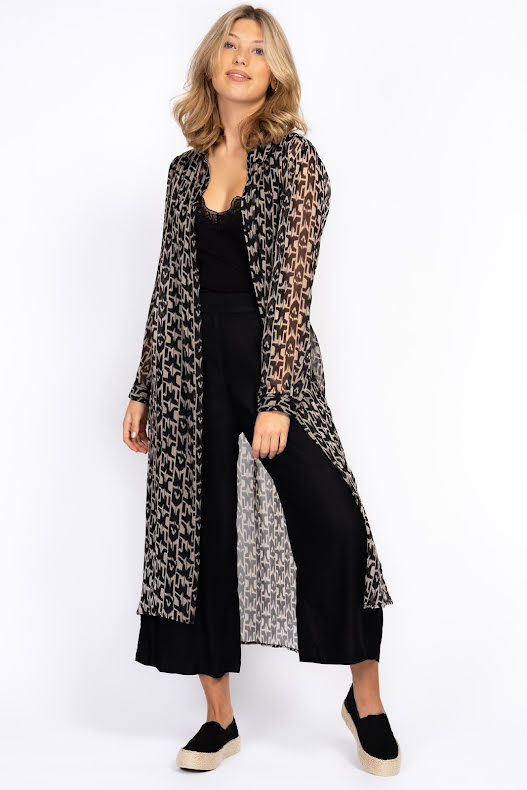 Inca Long Shirt - black/sandstone