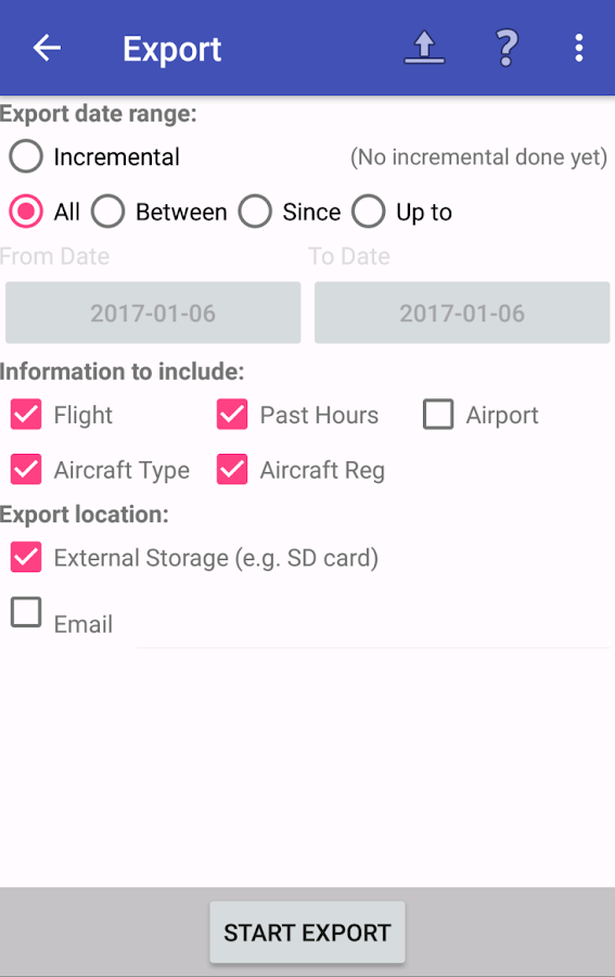 intelliPilot - Pilot LogBook- screenshot