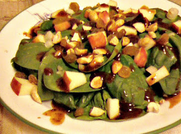 Sue Johnson's Indian Spinach Salad Recipe