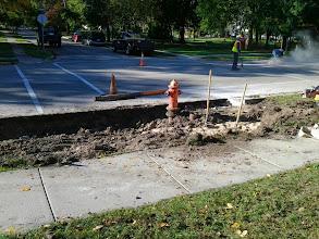 Photo: Fire Hydrant Relocation 10-2-2013
