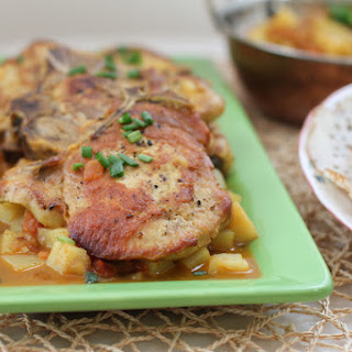 Indian-Spiced Pork Chop Potato Skillet.