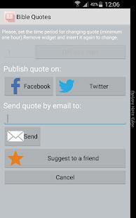 Bible Quotes Widget FREE - screenshot thumbnail
