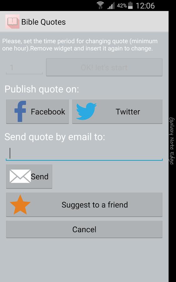 Bible Quotes Widget FREE - screenshot