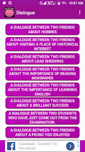 dialogue between two friends in english