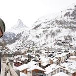 Hugo and Matterhorn in Zermatt, Valais, Switzerland