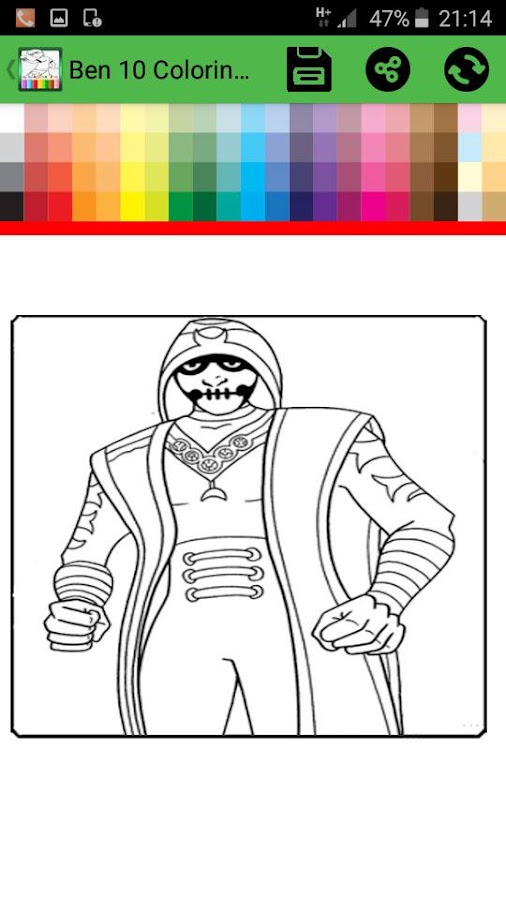 Coloring Book For Ban 10 Alien Screenshot