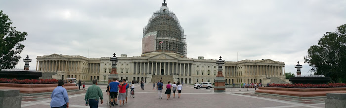 Photo: panorama view of the Capitol building