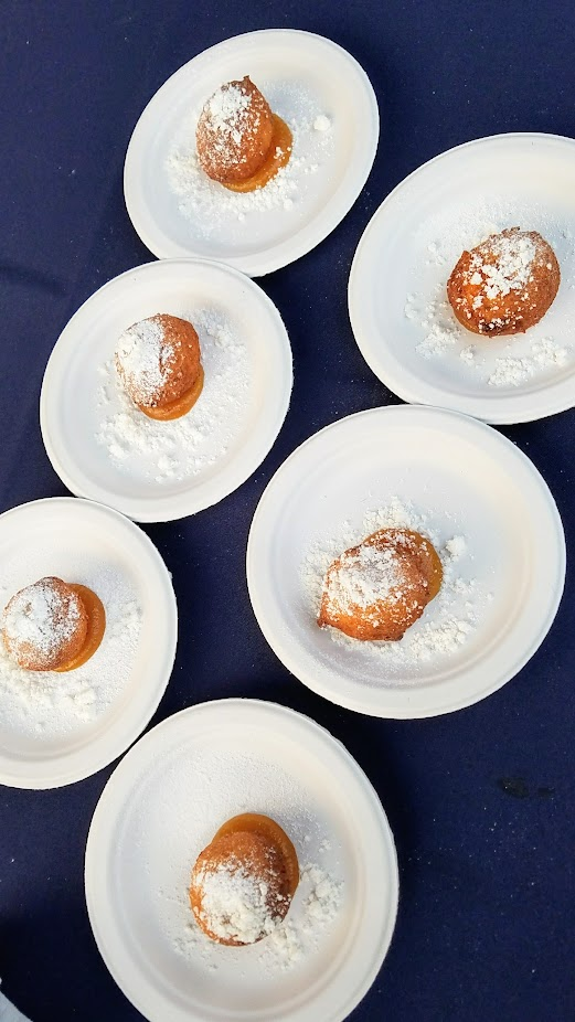 Review of Feast PDX Smoked 2017, Laura Sawicki of Launderette from Austin, TX found a way to get meat into dessert in the form of Ricotta Fritter, Apple Butter, Rosemary, Pork Fat Powder