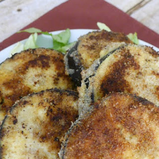 Low Carb Eggplant Fritters.
