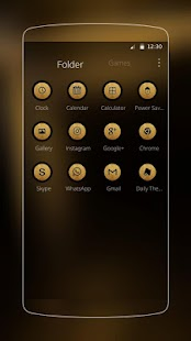 Cool Black Gold Biz Tema- screenshot thumbnail