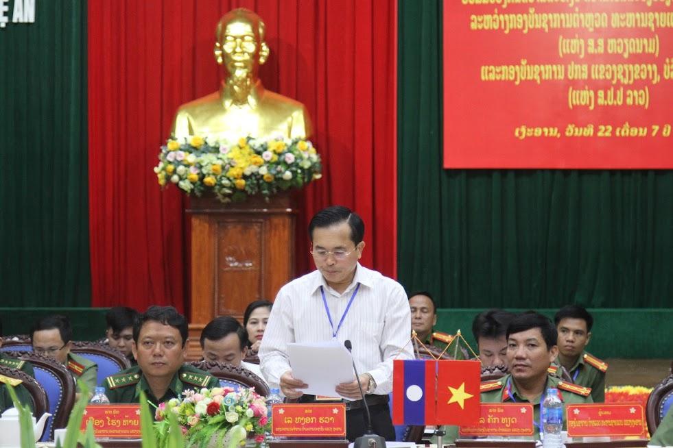 Đồng chí Lê Ngọc Hoa, Phó Chủ tịch UBND tỉnh phát biểu tại hội nghị