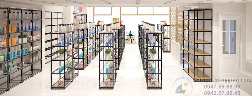 thiết kế nội thất siêu thị, thiết kế cửa hàng tạp hóa
