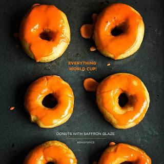 Donuts with a Saffron Glaze