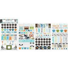 BoBunny Clear Stickers - Life In Color UTGÅENDE