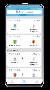 サッカー結果アプリ