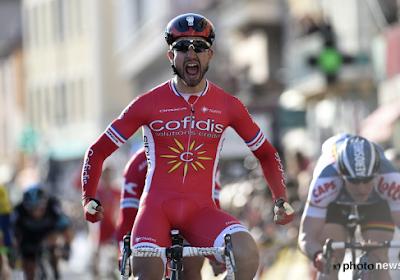 Nacer Bouhanni nu helemaal onder stoom en wint derde rit in Boucles de la Mayenne