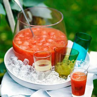 Watermelon, Orange And Rhubarb Punch.
