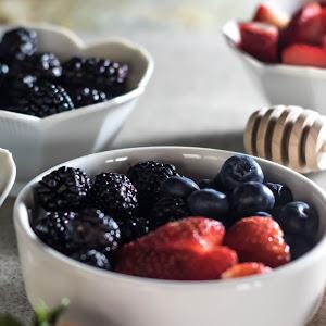 Triple Berries & Cream with Raw Honey