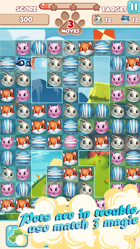 Lovely Pets PRO: Match 3  screenshots 8
