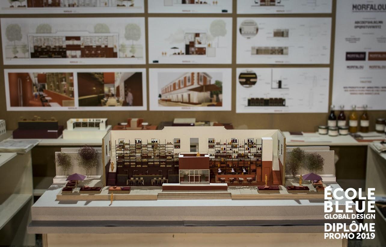 présentation maquette architecture intérieure