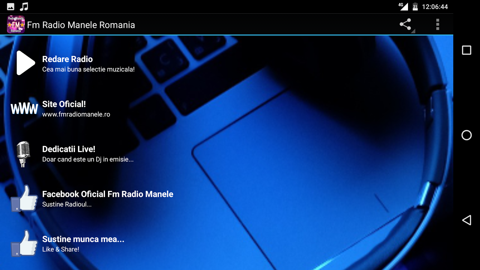 Fm Radio Manele Romania- screenshot