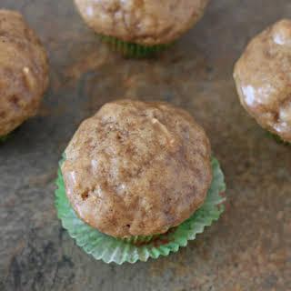 Mini Chai Muffins with Vanilla Bean Glaze.